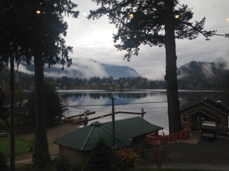 View of the lake from the Camp Lodge